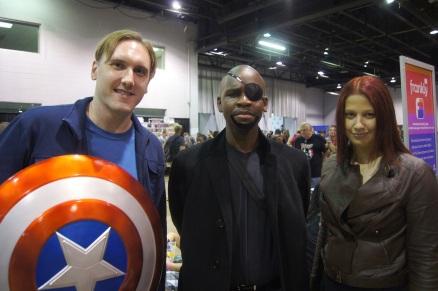 Steve Rogers, Nick Fury and Natasha Romanoff